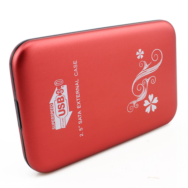"Alta Spped de Metal 2.5 ""Cubierta de 2.5 pulgadas USB 3.0 HDD Case Disco Duro SATA External USB3.0 HDD De Almacenamiento caja de Caja de Aluminio"