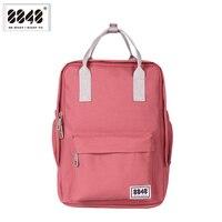 Verão feminino escola mochilas padrão moda mochila saco de escola 8848 marca mochila macio de volta alça 10 l 003 008 008|soft handle|women school backpack|backpack school bag -