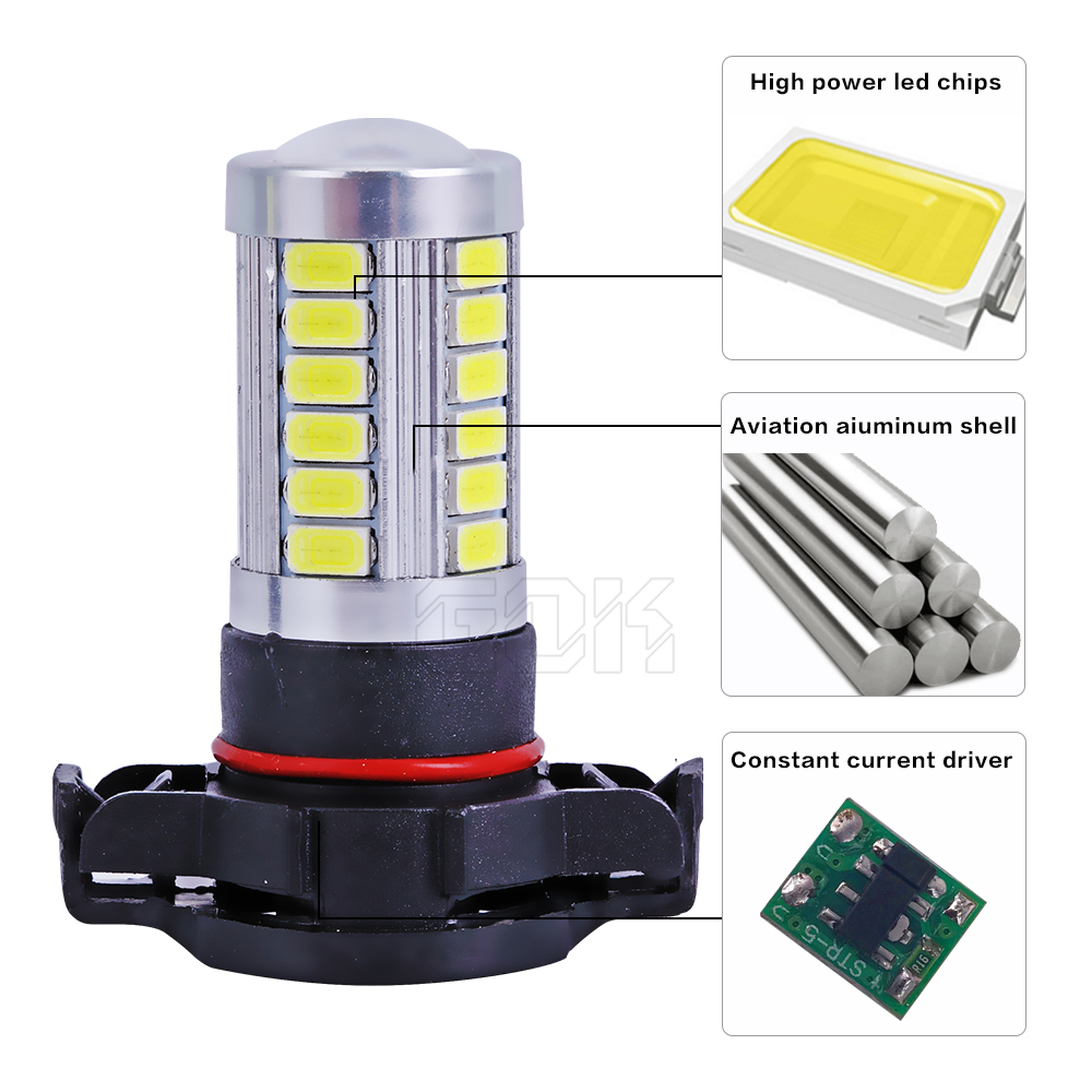 1 개 H11 H7 H4 H16 led 33SMD 5730 5630 LED 고성능 램프 led - 자동차 조명 - 사진 6