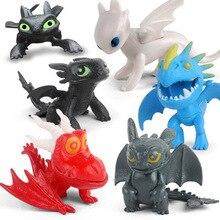 12pcs/set Dragon 3 Toothless Night Fury Action Figure Anime Figurines Dolls Kids Birthday Toy