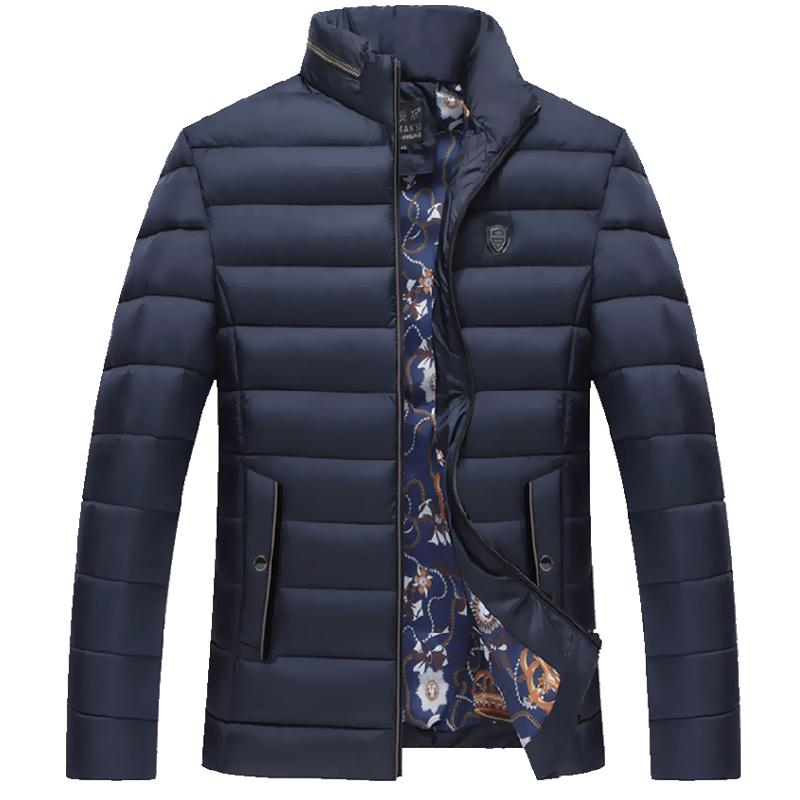 ФОТО Otton-padded Jacket Coat For Men 2017winter Mens Thick Wadded Jacket Parka Overcoat Fashion Top Casual Solid Outerwear