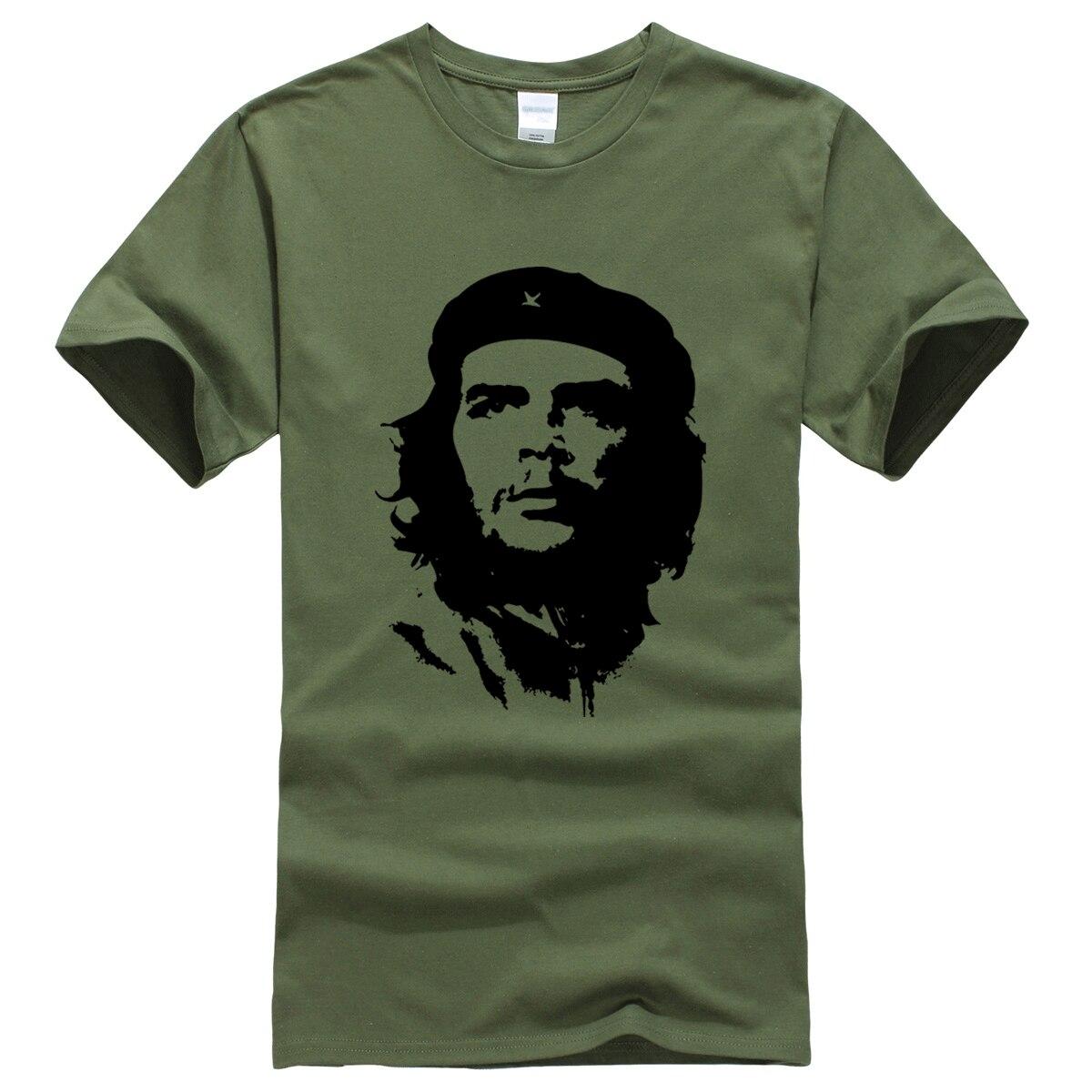 Che Guevara Hero Men T Shirt Printed 100% Cotton Short Sleeve T-Shirts Hipster Pattern Tops Tees Cool High Quality Male T-Shirt