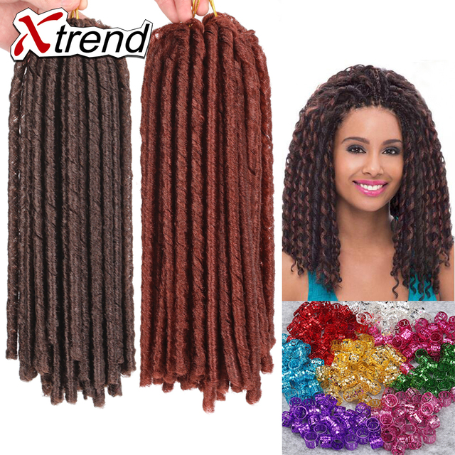 New Synthetic Soft Dread Hair Extensions 14inch 30rootspack Dread