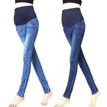 Maternity Clothes font b Jeans b font Woman Elastic Waist Denim Maternity font b Jeans b