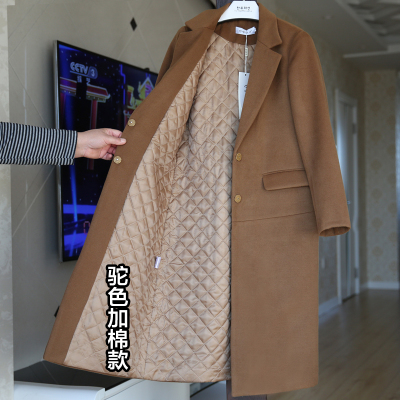 New Arrival Fashion Cashmere Wool Winter Coat Outerwear Women Long Thickening Warm Woolen Overcoat Women Trench Coats G8x2
