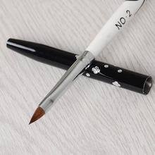 No. 2 Detachable Nail Art Acrylic Kolinsky Sable Brush 3D Painting Pen Drawing Brush
