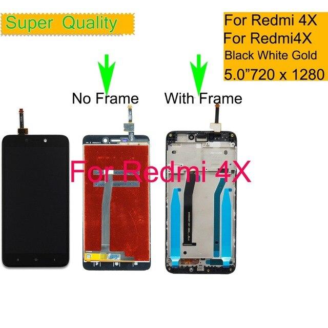10 Teile/los Für Xiaomi REDMI 4X LCD Display Touchscreen Digitizer Sensor Pantalla monitor Redmi 4x LCD Montage Mit Rahmen