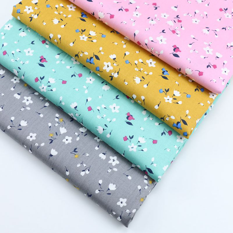 Pretty 4 Seasons 50x40cm Small Flowers Printed Cotton Fabric Bundle For DIY Sewing Decoration