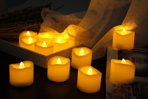 Image 5 - 24pcs Battery operated LED Candle tealight Flameless Flicker wavy Tea Light W/Timer 6 hrs On 18 hrs Off F/Wedding Christmas Home