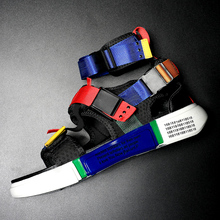 Meb Summer Shoes Sandals Novelty Design High-Top Colorful Hook And Loop Cool Men Beach Sandalias Hombre Casual