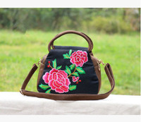 New Fashion Embroidery Women Small Shopping Bags All Match Floral Embroidered Lady Shoulder Handbags Top Versatile
