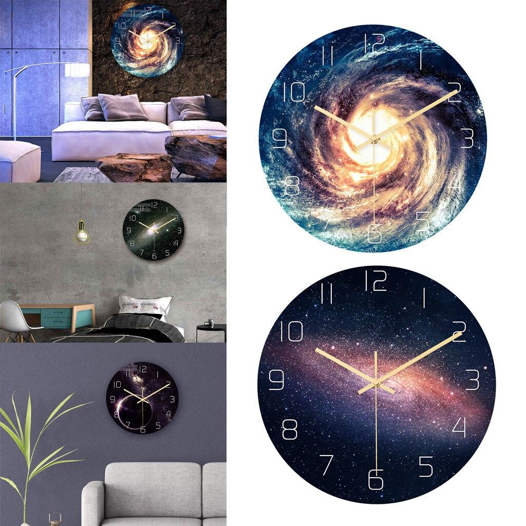 Muslim Universe Starry Creative Wall Clock Acrylic Material Mute Movement Bedroom Living Room Decoration Clock L523