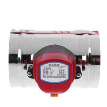 AC 220V Edelstahl Elektrische Luft Magnetventil Luftkanal Motorisierte Dämpfer Ventil für Belüftung Rohr Ventil