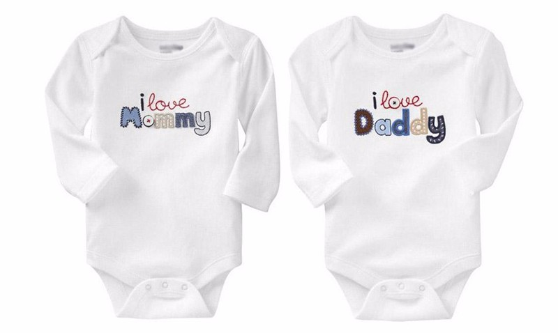 Letter Baby Bodysuits Active Cotton Newborn Clothes 2 Styles Boys Girls Bodysuit O Neck Triangle Climbing Coverall Baby Clothing (4)