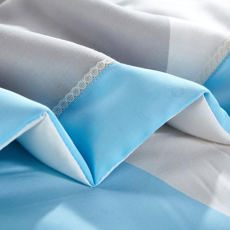 Одеяло с рисунком медведя лисы голубого цвета, летнее стеганое одеяло, сшитое из модала, полиэстер, наполнитель, Твин-квин, Кондиционер