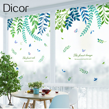 Butterflies Leaves Dicor Fashion Window Sticker In Decorative Film For Living Room Vinyl Frosted Opaque No Glue Static Cling New
