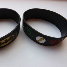 1PC Super Heroes Silicone Bracelet With Superman, Batman, Green Lantern, The Flash, Alternative Design Wristband