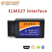2017 Preço de Fábrica OBD2 ELM327 OBDII ELM 327 Bluetooth v2.1 carro De Diagnóstico Interface Funciona Scanner Na Android BT adaptador V 2.1