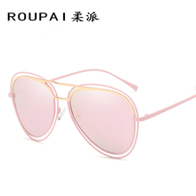 ROUPAI 2017 new polarized sunglasses women influx of people turtles mirror bright color sunglasses retro glasses P0833