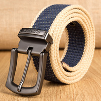 2017 Fashion Military Brand Belt For Men Luxury Canvas High Quality Men & Women Knitted Straps Male Pin Buckle Cinto Ceintures