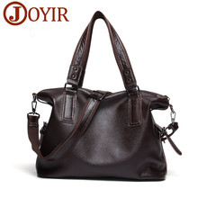 JOYIR Mens Shoulder Bag Messenger Genuine Leather Laptop High Quality Travel Handbag Fashion Bags For Men