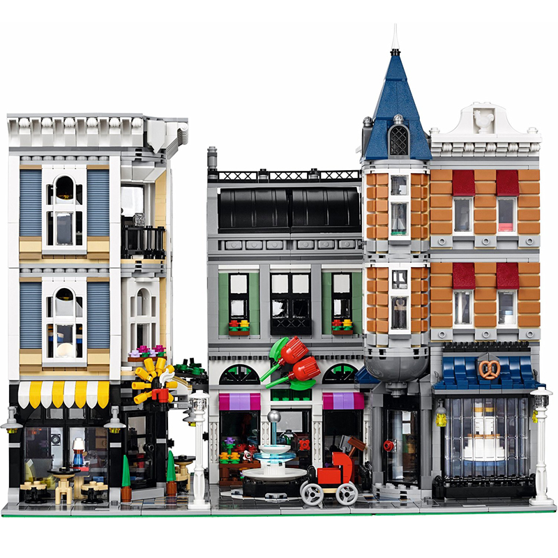 Lepin 15019 4002pcs Creator Expert Series The Assembly Square City Set Building Blocks Bricks Model 10255 Toys for children DIY ynynoo lepin 02043 stucke city series airport terminal modell bausteine set ziegel spielzeug fur kinder geschenk junge spielzeug