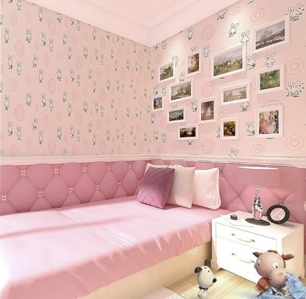 bunny bedroom cartoon boy circle children non wallpapers woven child aliexpress boys bed