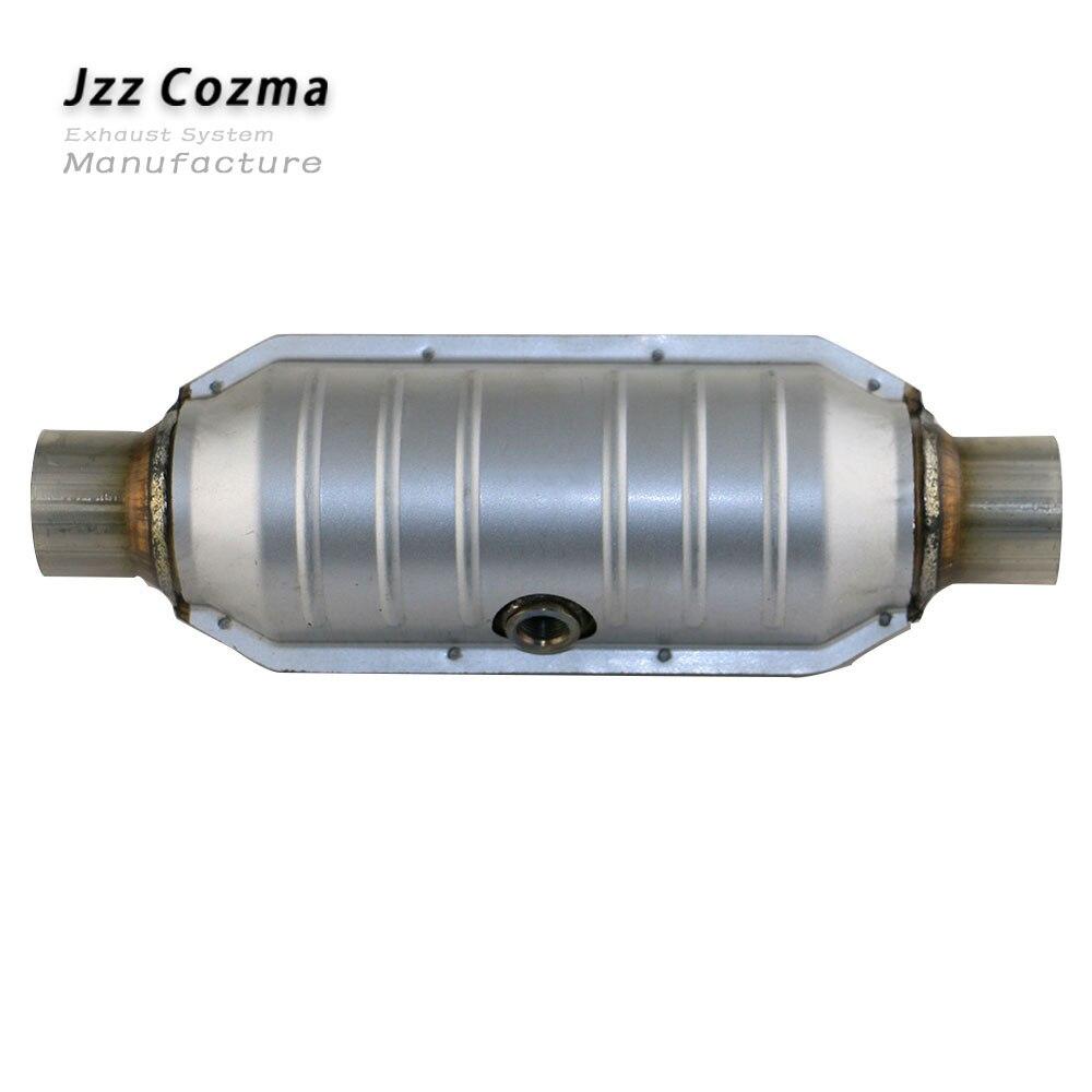 JZZ العالمي سيارة اليورو 2 القياسية 400 خلية المعادن المغلفة الحفاز محول استبدال أجزاء ل العادم حوالي 2.6 ''3.2''