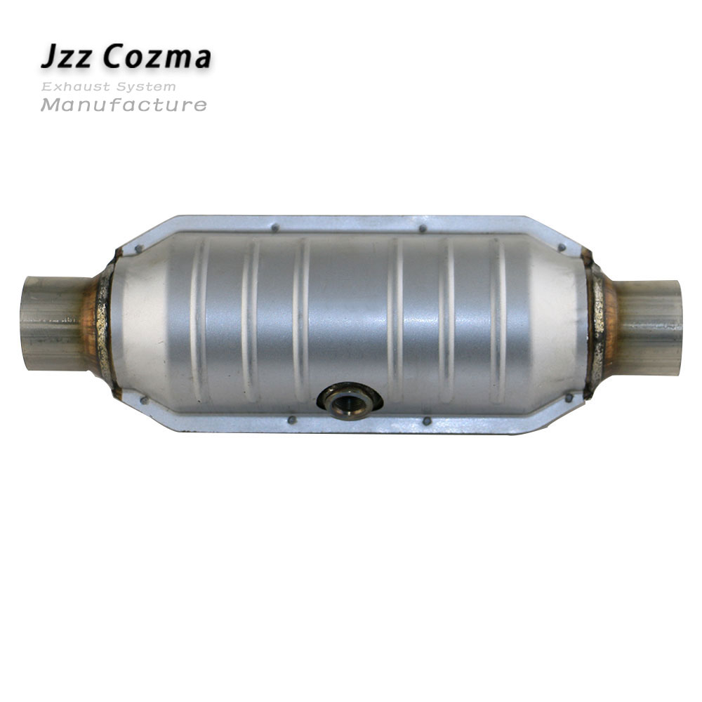JZZ Universal Car Euro 2 Standard 400 Cell Metal Coated Catalytic Converter Replacement Parts For Exhaust About 2.6'' 3.2''