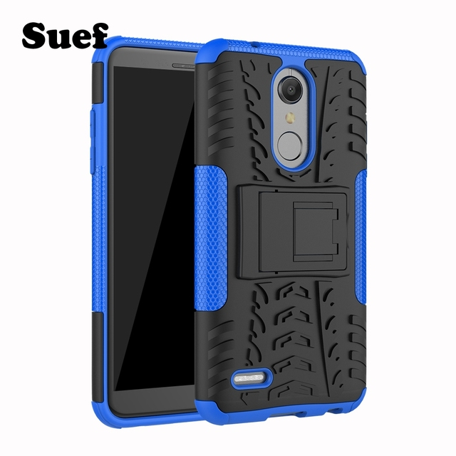 the latest 024f8 cfa76 US $4.74 5% OFF|Armor Cover LG K11 Case For LG K10 Alpha Case Cover LG K10+  K10Alpha K10 plus Coque LG K 10 10+ LMX410EOW Mobile Shell-in Fitted Cases  ...