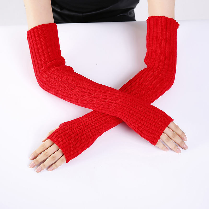 Brand New Arrivel Female Long Gloves Without Fingers Winter