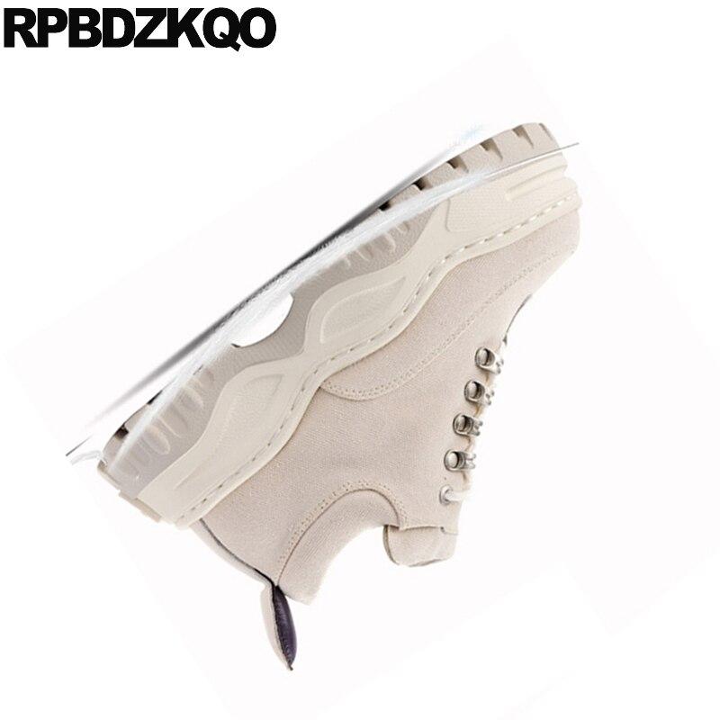 De Creepers Respirant Plate forme Luxe Formateurs Toile Antidérapant Ascenseur Apricot Muffin Épaisse Semelle Sneakers Chaussures Plaine Wedge noir Femmes vxw1qawd