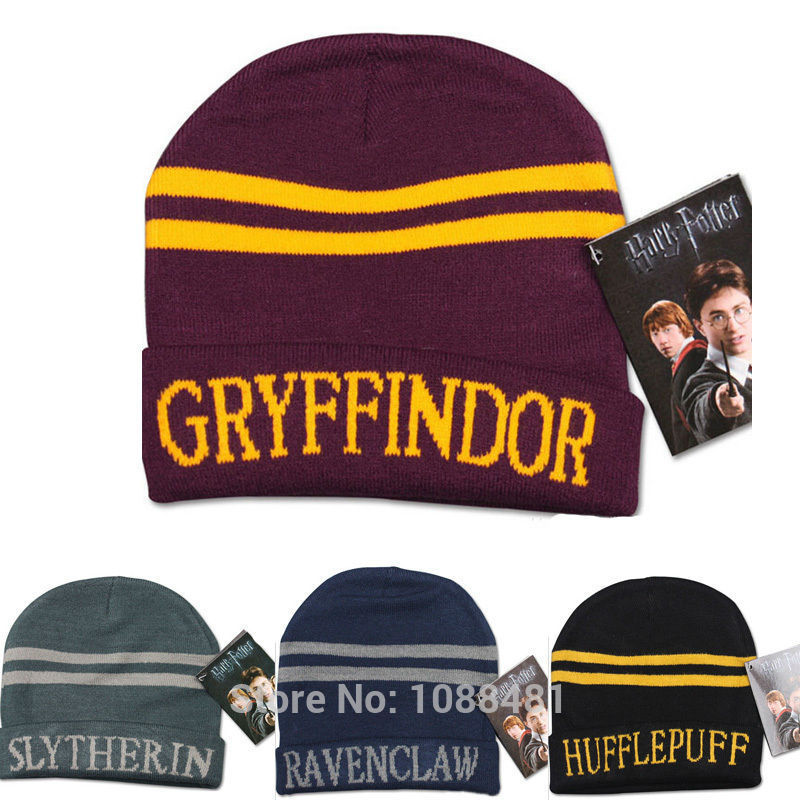 Harri Potter Hat Cap Beanie Preppy Costume Halloween Christmas Gift Slytherin/Gryffindor/Ravenclaw/Hufflepuff Hat
