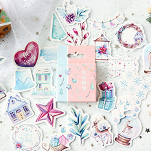 46Pcs/box New Nordic Polar Pocket Items Decorative Sealing Stickers mini paper Self-Adhesive DIY Diary Stationery