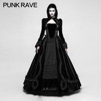 Q 339 Gothic Palace Gorgeous Comfortable Velvet Stitching Women's Night Dress