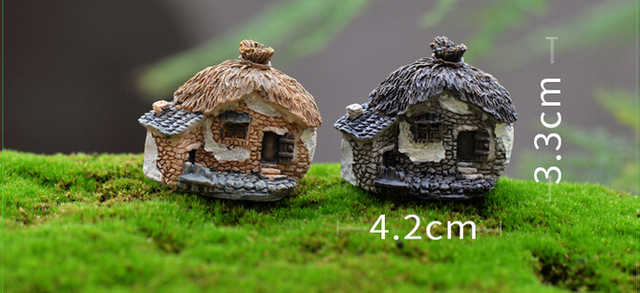 8 Styles Stone House Fairy Garden Miniature Craft Micro Cottage Landscape  Decoration For DIY Resin Crafts
