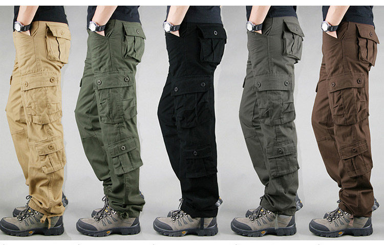 19 Spring Winter Military Pants Men Khaki Cargo trousers Casual Cotton Tactical Pants Men Big Size Army Overol Hombre 1
