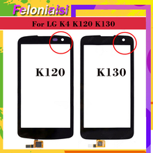 10Pcs/lot For LG K4 K120 K121 K120E K130 K130E Touch Screen Touch Panel Sensor Digitizer Front Glass Outer Lens Touchscreen