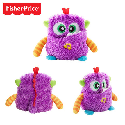 Original Fisher Price Baby Musical Toys for 0-12 Month Gigglesn Growls Monster Doll Educational Sensory Infant