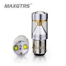 2x S25 1157 BAY15D 30 Вт CREE чип с объективом 360 градусов для вождения лампы накаливания тормоза Резервное копирование источников света белый/красный/желтый