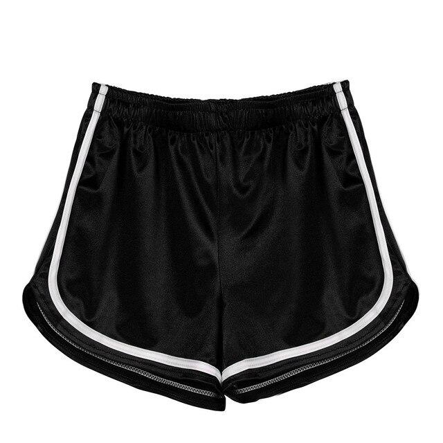 Women High Waist Yoga Sport Shorts Shiny Leggings Calzas Deportivas