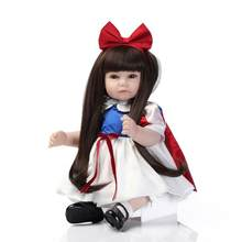 53cm cute girl reborn toy dolls soft silicone reborn baby dolls child fake baby doll bebe alive reborn menino bonecas lol dolls(China)