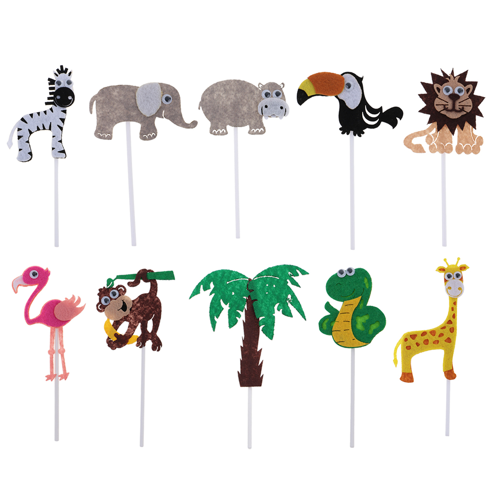 New Hot Sale Zoo Animal Cake Topper Birthday Safari Jungle Party Baby Shower Bridal Shower Birthday Cake Decoration Supplies
