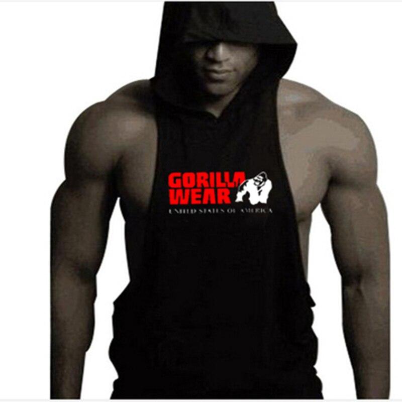 2018 Tier Marken Kleidung Männer Fitness Sleeveless Gorilla Bodybuilding Muscle Shirts G Ym Workout Westen Singuletts Sweatshirts Bequemes GefüHl
