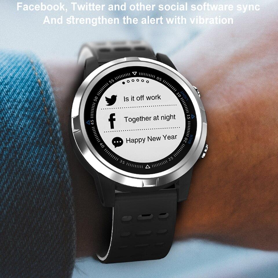 GPS ساعة ذكية IP68 للماء Smartwatch الديناميكي مراقب معدل ضربات القلب الرجال رياضة الجري رجل ساعة ذكية es ل فون الروبوت-في ساعات رقمية من ساعات اليد على  مجموعة 1