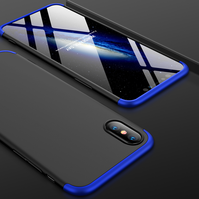 For iPhone XS Max 6.5inch Case 360 Degree Full Luxury 3-IN-1 Shockproof Frosted Shield Hard Back Cover Case For iPhone XSMaxCase (8)