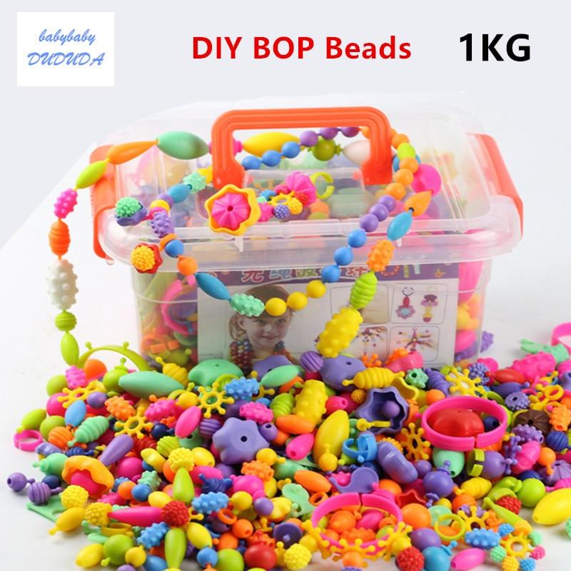 1Kg Pop Beads bambini gioielli amblyopia colori caramella fai da te-1656