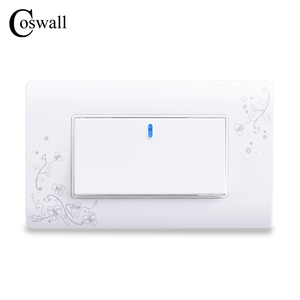 COSWALL Simple Style 1 Gang 2 Way On / Off Wall Switch Interruptor White Color Light Switch 114*70mm AC 110~250V C30-118-101