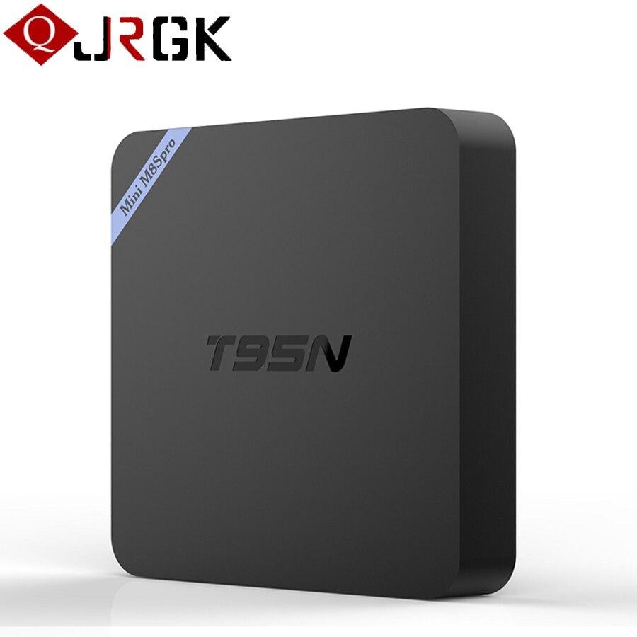 New T95N Mini M8S Pro Android 6.0 TV Box Amlogic S905X Quad Core 2GB 8GB Wifi Smart IPTV box 4K HD Set top Box