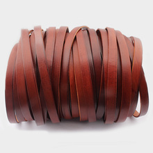 5yard 10x2mm Brown Color Genuine Real Leather Jewelry Cord FOR Bracelet Necklace Jewelry Handmade стоимость